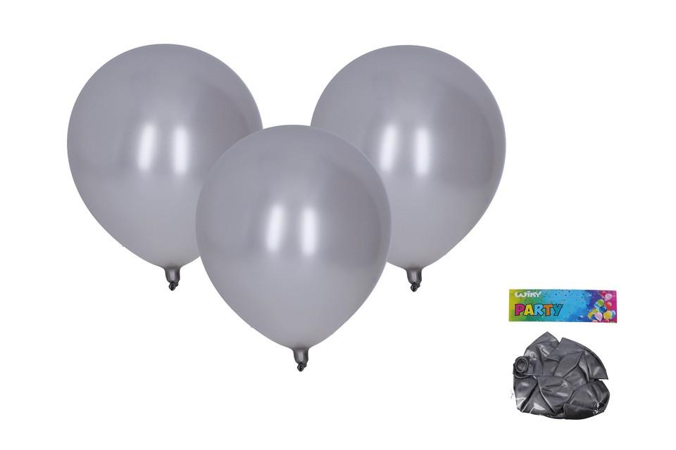 Balóny strieborné 30cm/10ks