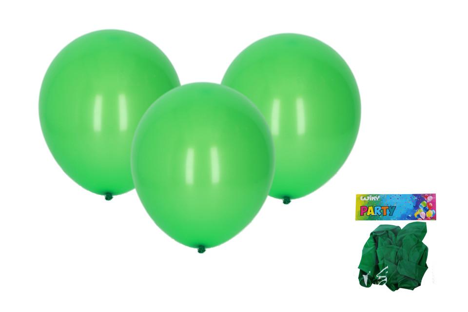 Balóny zelené 30cm/10ks