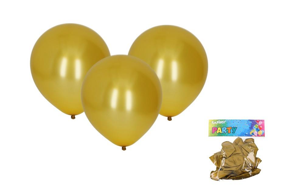Balóny zlaté 30cm/10ks