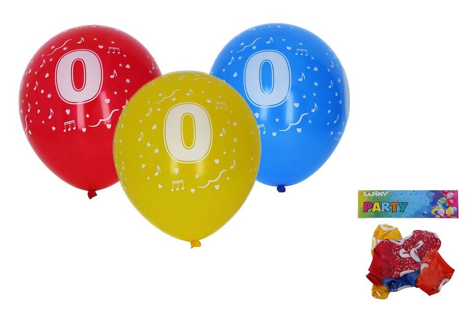 Balóny s číslom 0./5ks
