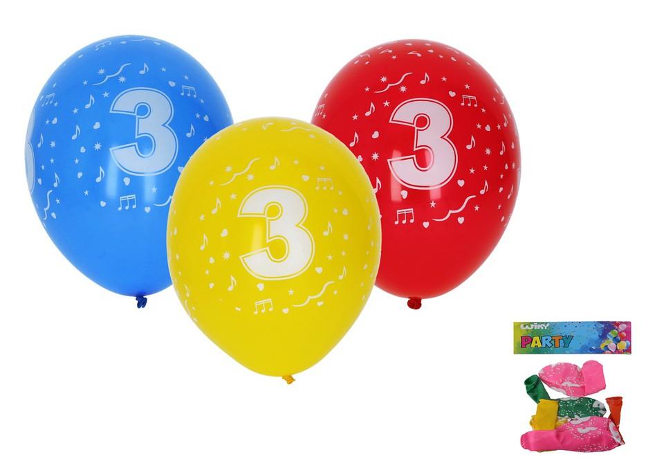 Balóny s číslom 3./5ks