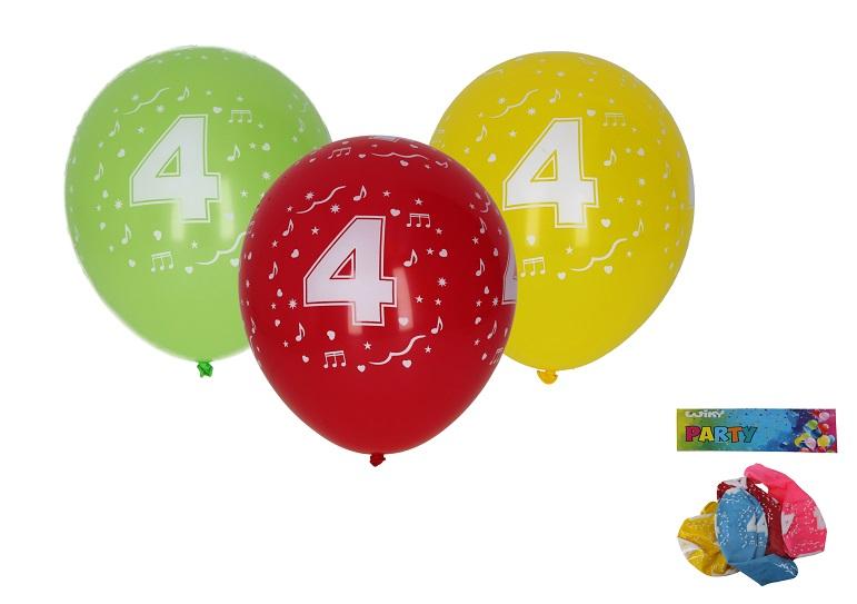 Balóny s číslom 4./5ks