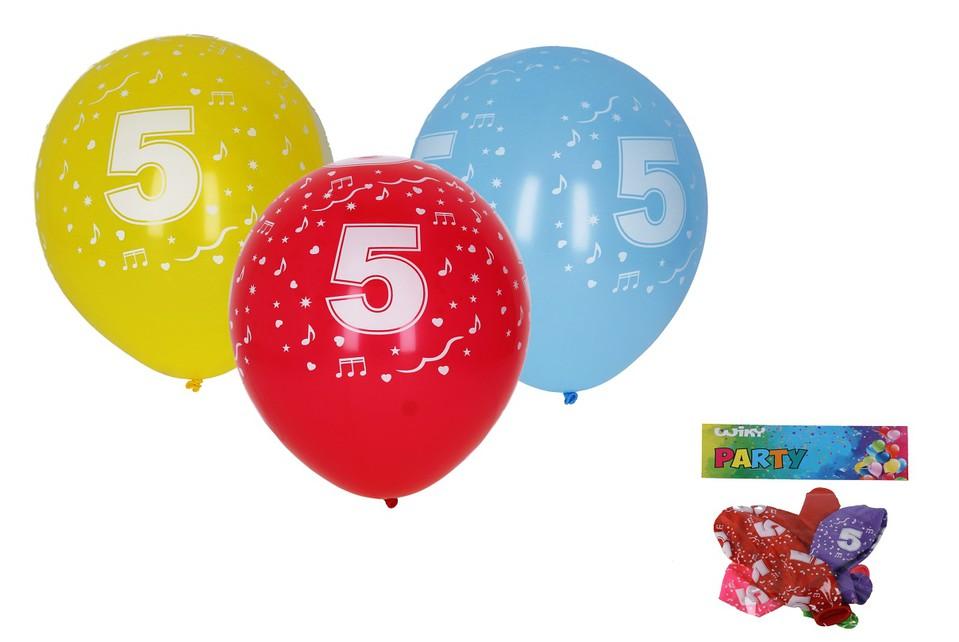 Balóny s číslom 5./5ks