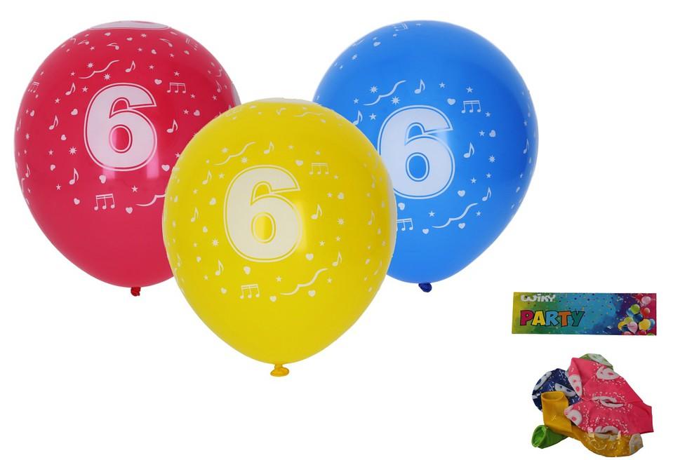 Balóny s číslom 6./5ks