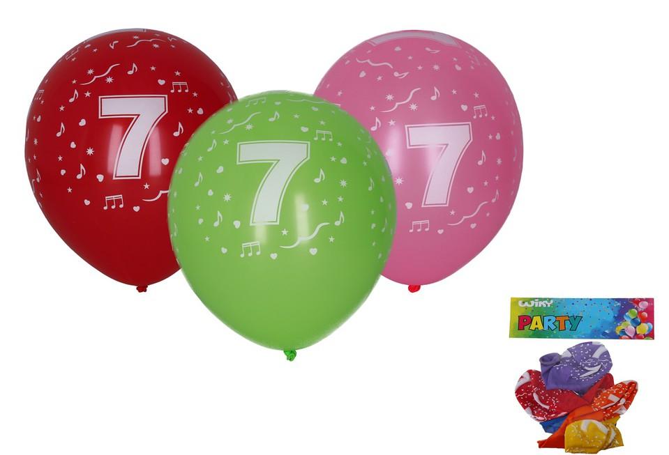 Balóny s číslom 7./5ks
