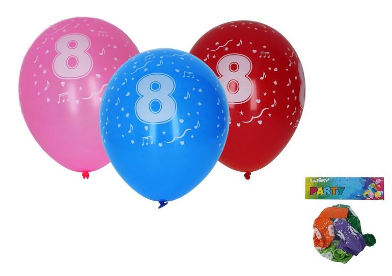 Balóny s číslom 8./5ks