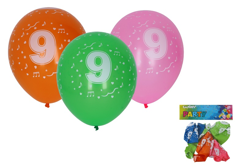 Balóny s číslom 9./5ks