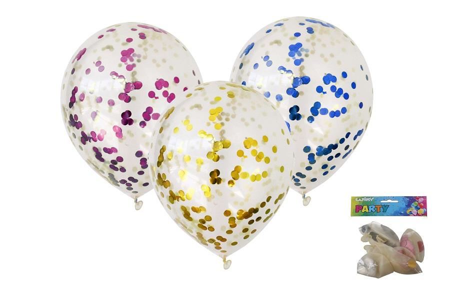 Balóny s konfetami 30cm/5ks