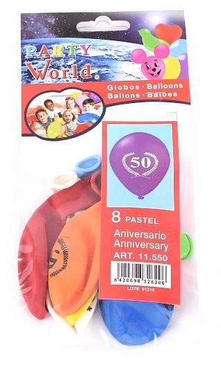 Balóny s číslom 50, 8ks