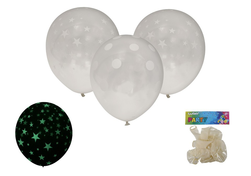 Balóny Svietiace vtme30cm/6ks