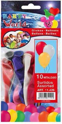 Balóny metalízové 10ks