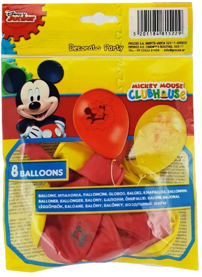 Balóny Mickey 8ks