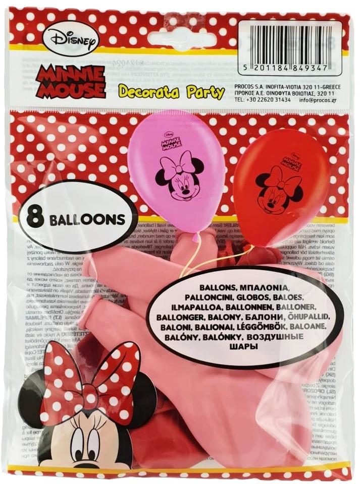 Balóny Minnie 8ks