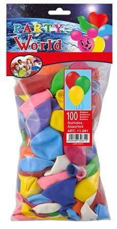 Balóny mix farieb 50 ks