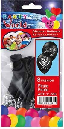 Balóny piráti 8ks
