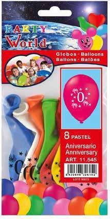 Balóny s číslom 0. / 8ks