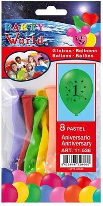 Balóny s číslom 1 - 8 ks