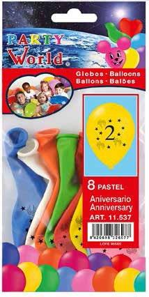Balóny s číslom 2 - 8 ks