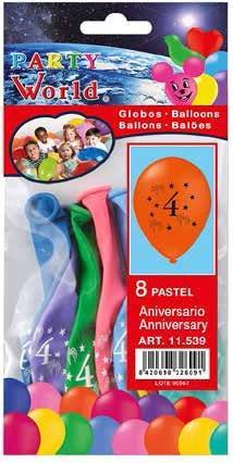 Balóny s číslom 4, 8 ks