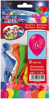 Balóny s číslom 6, 8ks