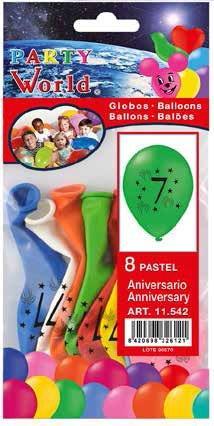 Balóny s číslom 7 , 8 ks