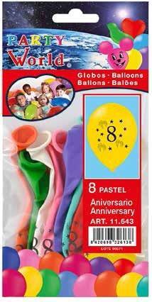 Balóny s číslom 8, 8 ks
