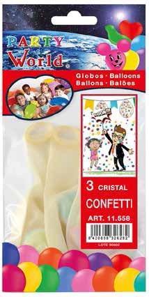 Balóny s konfetami 3 ks