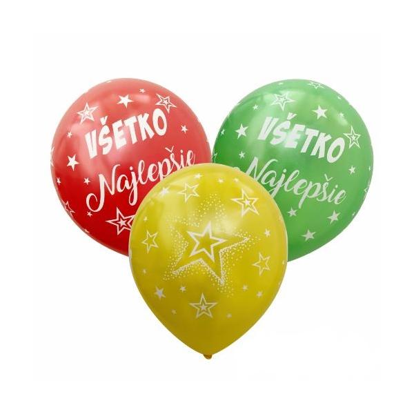 Balóny VŠETKO Najlepšie 6ks