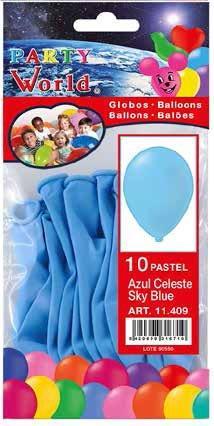 Balóny svetlo modré - 10ks