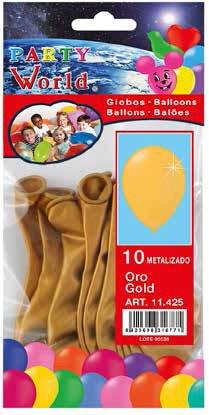 Balóny zlaté 10ks