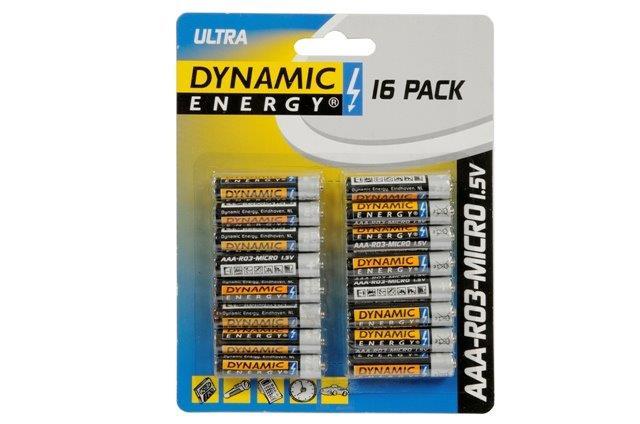 Batérie AAA DYNAMIC 16ks
