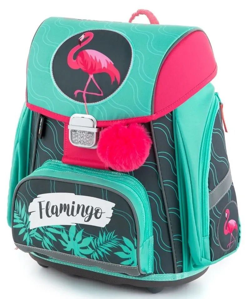 Anatomická školská taška Premium Plameniak
