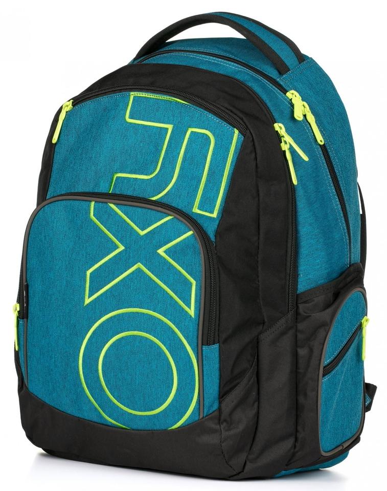 Študentský batoh OXY Style modro-zelený