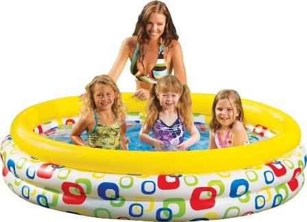 Intex 58449 Bazén farebné kruhy 168x41cm