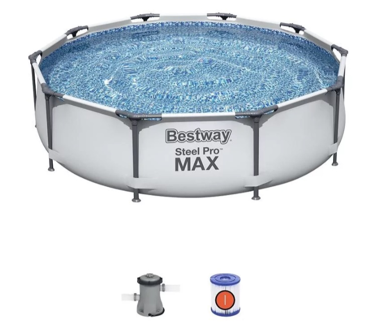 Bestway 56408 Bazén Steel Pro Frame 3,05x0,76m + Kartušová filtrácia