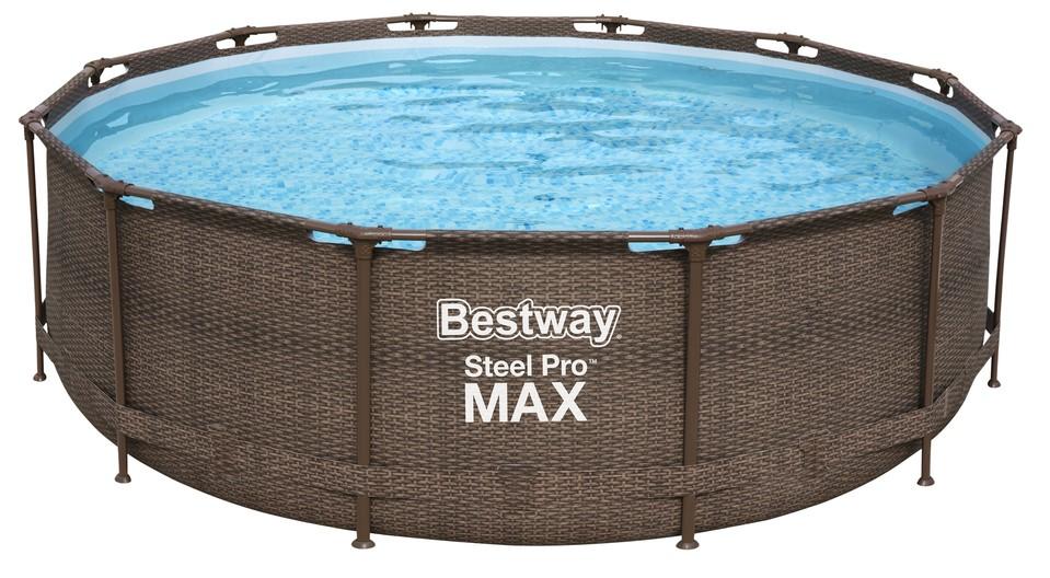 Bestway 56709 bazén Steel Pro Frame Rattan 3,66x1m