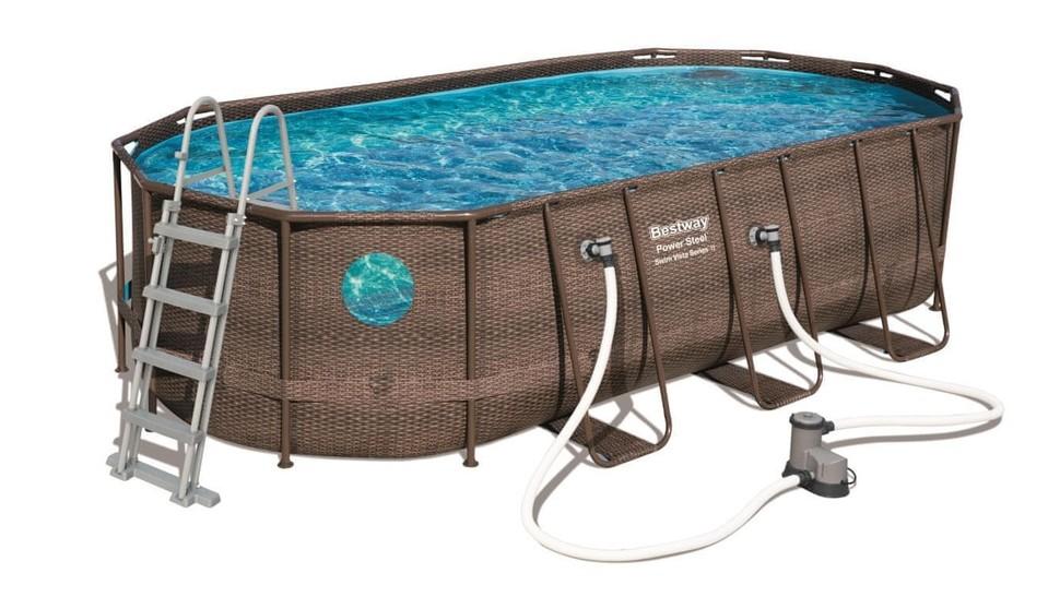 Bestway 56716 Bazén Power Steel Swim Vista 549x274x122cm