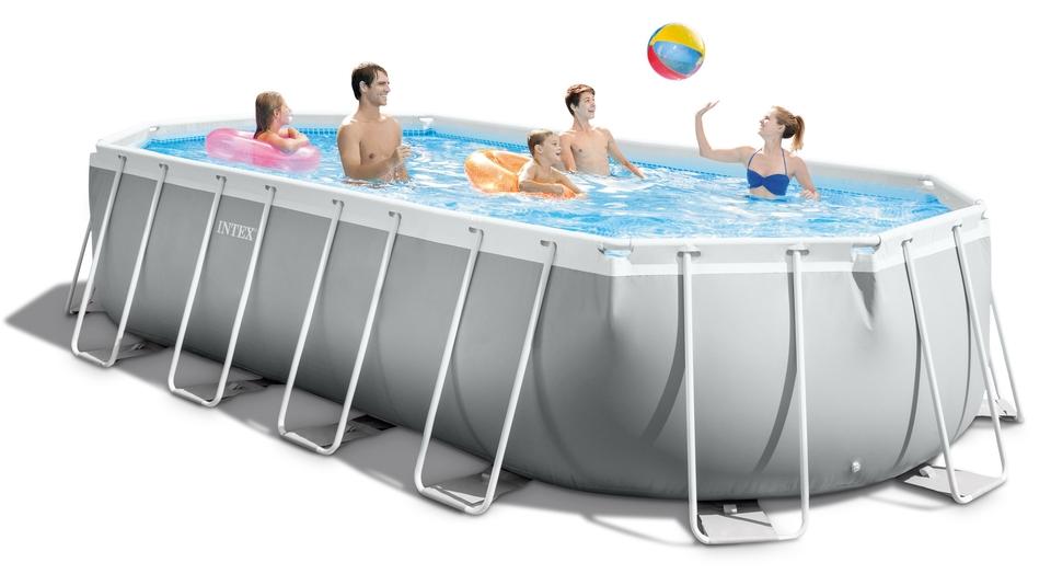 INTEX bazén 26798 Prism Frame Oval 610 x 305 x 122 cm kartušová filtrácia