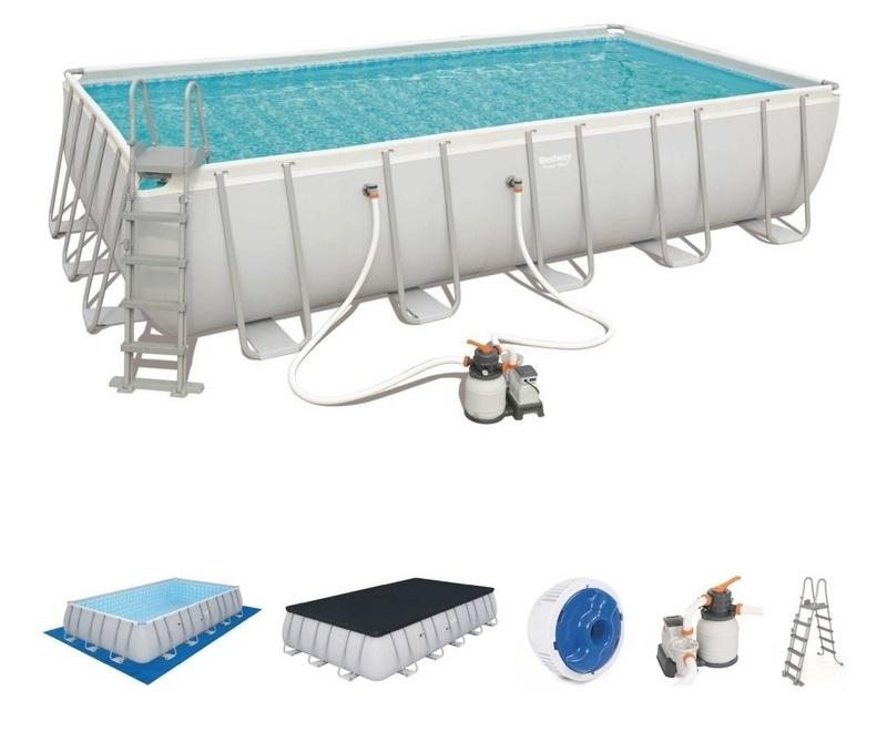 Bestway 56471Bazén Power Steel TRITECH™ + piesková filtrácia 671x366x132cm