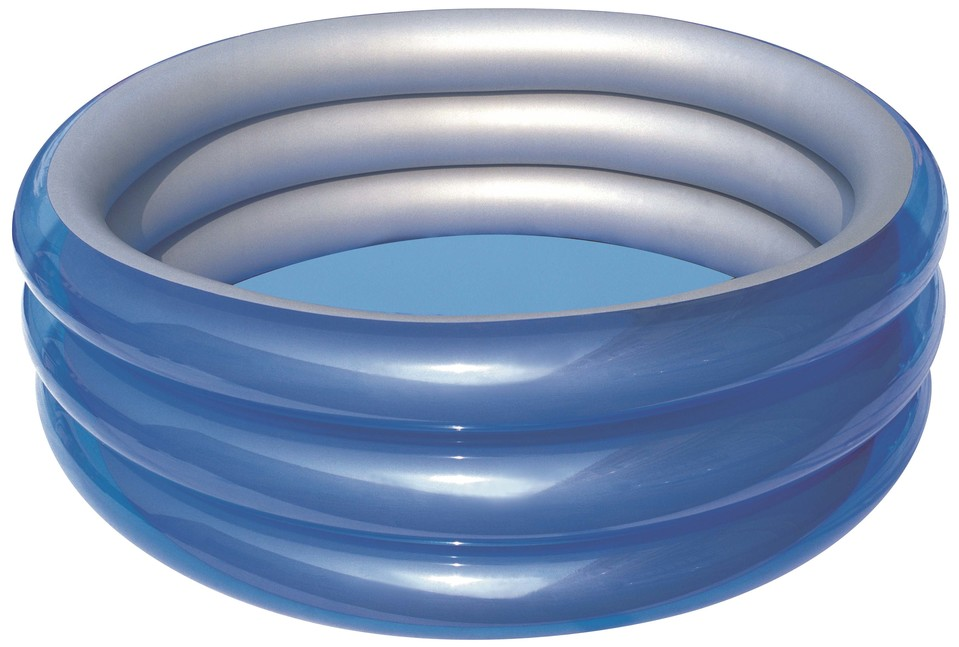 Bestway 51042 Nafukovací bazén modrá metalíza 183x33cm