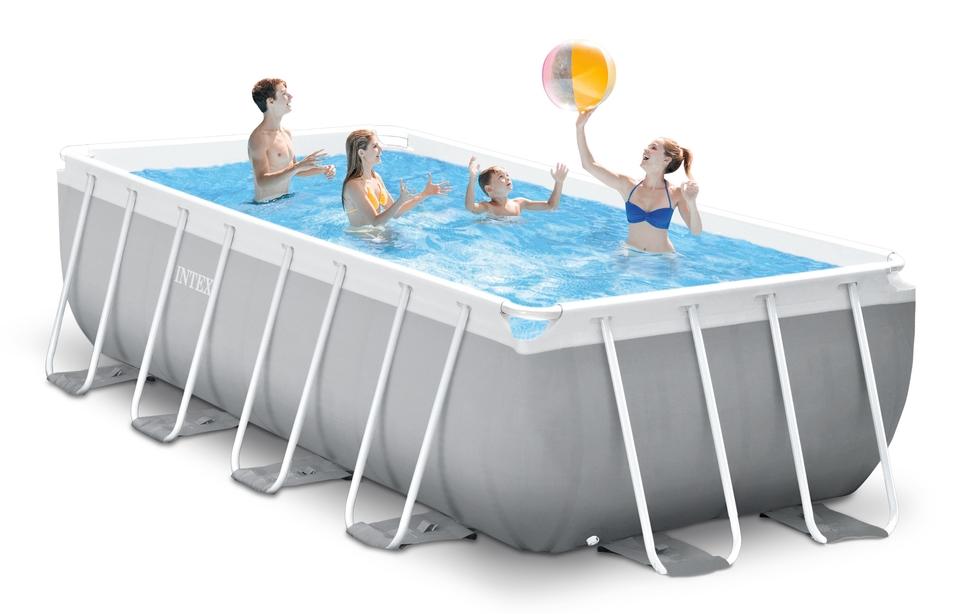 INTEX Bazén Prism Frame Rectangular Pools 4,88 x 2,44m x 1,07m, s filtráciou 26792NP