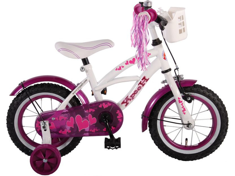 "Detský bicykel Heart Cruiser biely 12"""