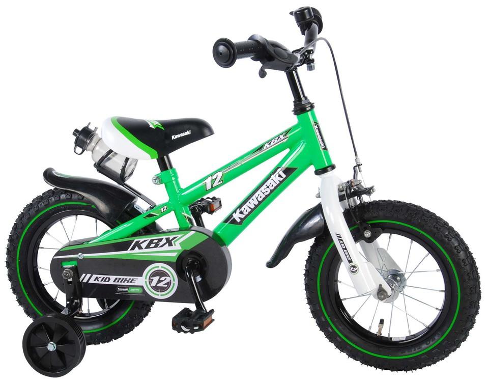 "Detský bicykel Kawasaki 12"" zelený"