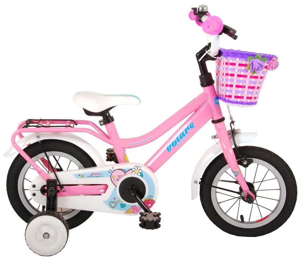 "Bicykel Brilliant ružový 12"""
