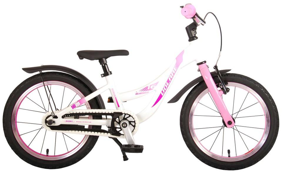 """Bicykel Glamour 16"""" ružovo-biely"""