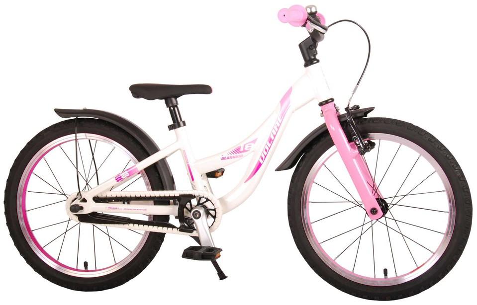 """Bicykel Glamour 18"""" ružovo-biely"""