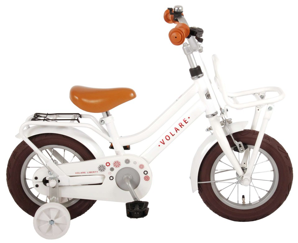"Bicykel Liberty biely 12"""