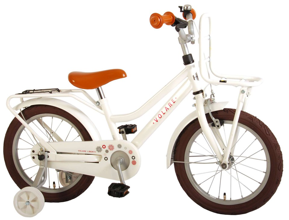 "Bicykel Liberty biely 16"""