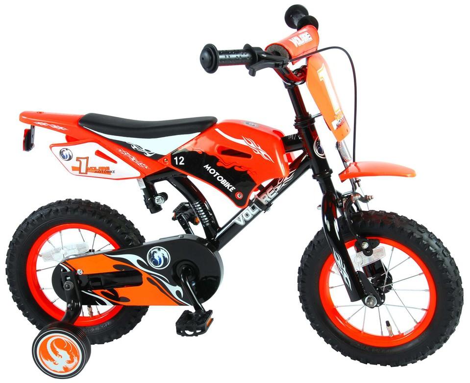 """Bicykel Motorka 12"""" oranžový"""