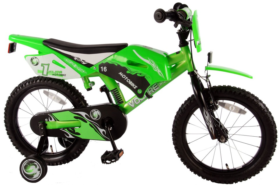 """Bicykel Motorka 16"""" zelený"""